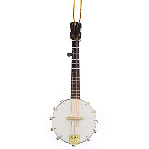 Dselvgvu String Miniature Banjo Hanging Ornament Mini Music Instrument Replica Holiday Tree Christmas Ornament (5.51' Banjo)