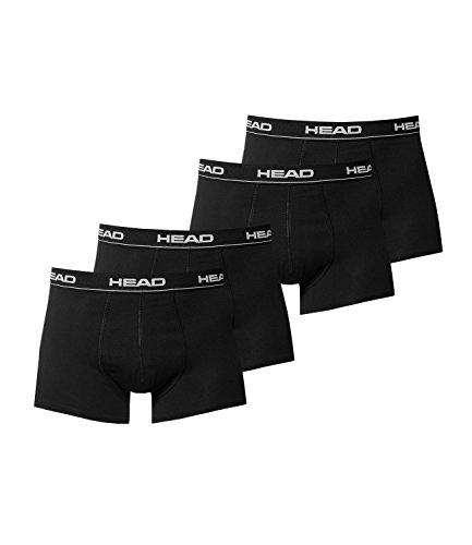 HEAD Herren Boxershorts 4er Pack 841001001, Wäschegröße:L;Artikel:Schwarz