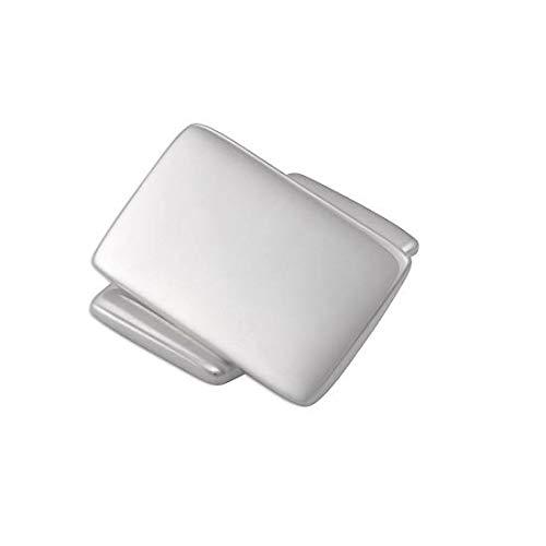 Boutons de Manchette Rectangulaires en Argent 925/1000 - A Chaînette