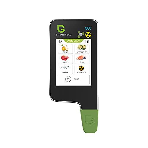Greentest ECO 6 Probador digital de nitrato de lectura instantánea, medidor de agua TDS PPM, detector de radianción, contador Geiger Combo para carne fresca, frutas, verduras