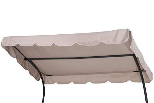 OUTFLEXX Ersatzdach für Leco Doppelliege, natur-grau, Polyester, 240x150cm