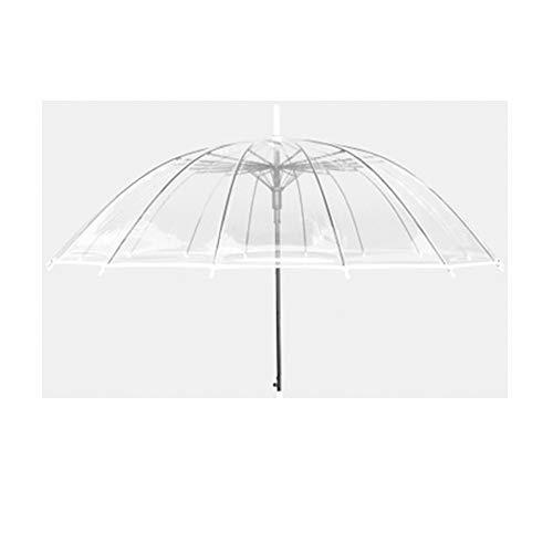 WNLBLB Paraguas Plegable de 16 Huesos, Transparente, con Mango Largo y diseño Retro, Transparent3, Size 2.00watts