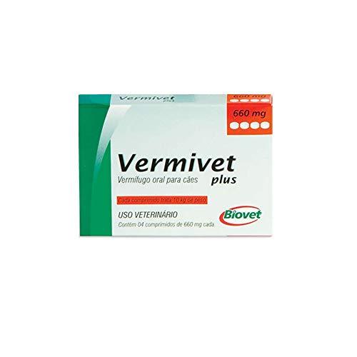 Vermífugo Biovet Vermivet Plus 660mg para Cães - 4 Comprimidos