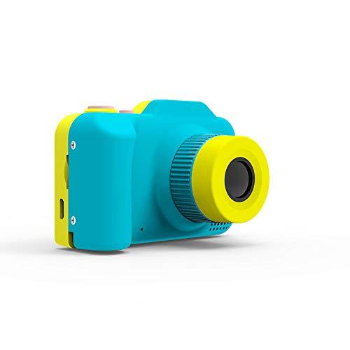 MOOLFN Mini Grabadora De Videocámara Mini Cámara Digital para Niños Pequeña Lente Dual Cámara De Juguete Regalo De Cumpleaños Take Fotografías Fotos,Azul