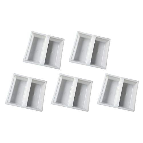 joyMerit 5 Stücke Einfahrt Pflastern Ziegelstein Terrasse Betonplatten Weg Gartenweg Maker Form