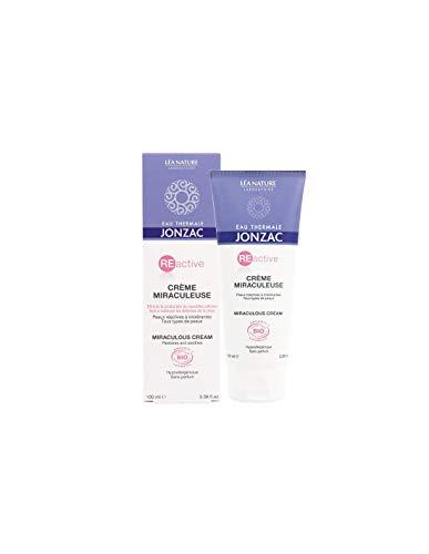 JONZAC - REACTIVE - Crema milagrosa regeneradora - para la cara y el cuerpo - Para pieles muy secas - Calmante - con agua termal - Biológico - 100 ml