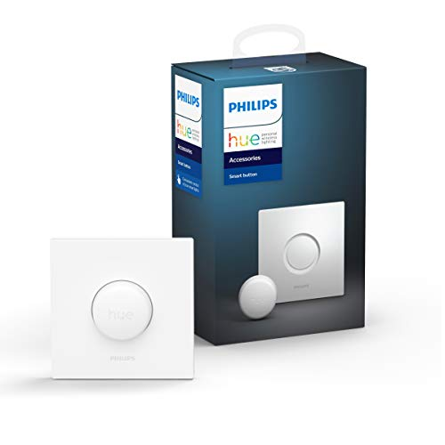 Philips Lighting Hue Smart Button Telecomando per Illuminazione Intelligente, Bianco, Versione 2019