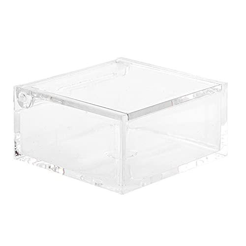 50 Scatoline portaconfetti cm. 6x6x3 per Matrimonio Comunione scatole per Confetti bomboniere segnaposto in plexiglass decoupage