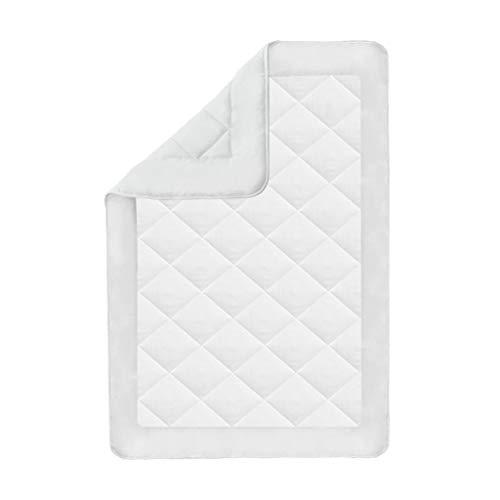 Cikonielf - Edredón de verano con funda de microfibra hipoalergénica (135 x 200 cm, 850 g), color blanco