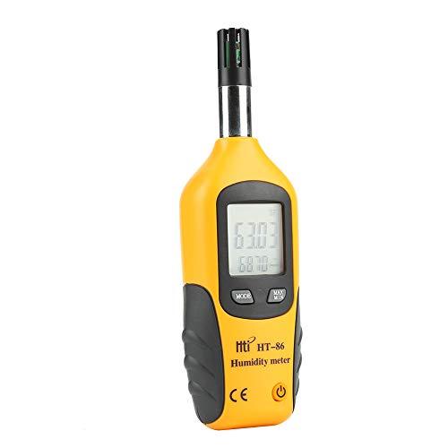 HT-86 Medidor Digital de Humedad y Temperatura. Termómetro e higrómetro multifunción, con Bulbo húmedo/Punto de rocío, para Uso Diario e Industray