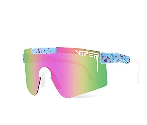 BBDDXX Gafas de Sol Deportivas polarizadas para Hombres Mujeres Juveniles TR90 Frame UV400 Running al Aire Libre Ciclismo Gafas de Sol de Golf,D
