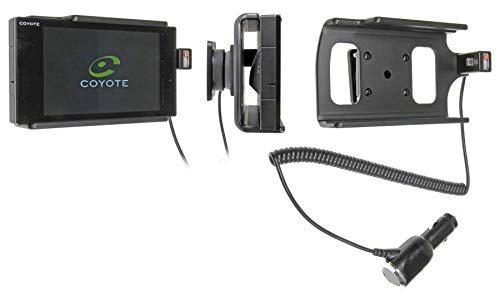 Brodit 512657 Support Voiture Coyote Nav avec Chargeur Allume Cigare avec Rotule orientable