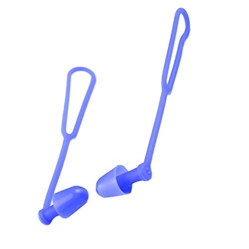 FLY MEN Sichere, dauerhafte, tragbare, 5 Paar-Silikon-Gel Anti-verloren Schwimmen Earplugs mit Schnur for Erwachsene Kinder-Wasser Schwimmbecken Zubehör See Bay Adventure Sport Diver Qualitätsmaterial