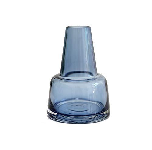 rainbowhh Florero de Vidrio Decorativo para el hogar Empalme Arreglo Floral Minimalista Moderno Sala de Estar Mesa de Comedor Conjunto Azul