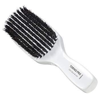 Torino Pro Wave Brush #0656 By Brush King - 9 Row, Medium Wave Brush - Made with 100% Boar...