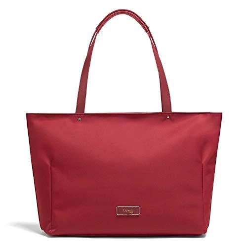 Lipault - Business Avenue Laptop Tote Bag - Top Handle Shoulder Handbag for Women - Garnet Red