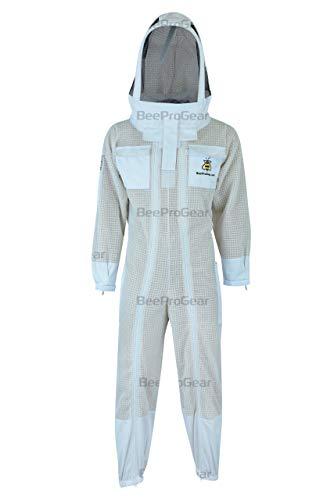 Bee Suit PSFV W, 3-lagiger Pilotanzug für Imker, Unisex, Bienenanzug, Fencing Schleier (MEDIUM)
