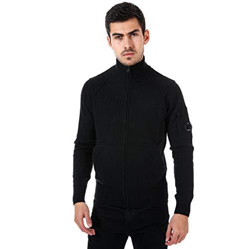 C.P. Bedrijf Heren Lambswool Zip Vest in Zwart