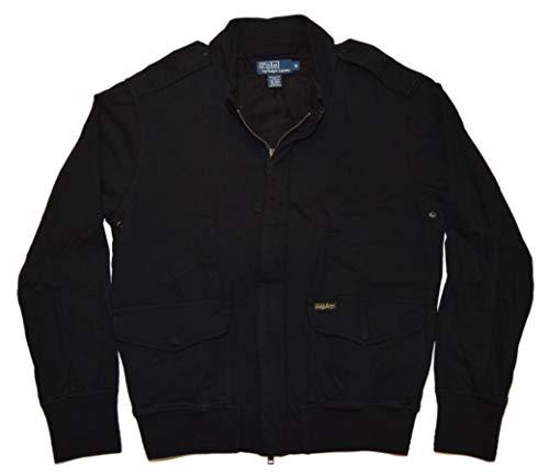 Ralph Lauren Polo Mens Military Fatigue Epaulet Cotton Jacket Coat Black Medium