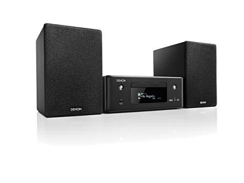 Denon CEOL N-11DAB Kompaktanlage, HiFi Verstärker mit Lautsprechern, CD-Player, Musikstreaming, HEOS Multiroom, Bluetooth, WLAN, AirPlay 2, Alexa Kompatibel, 2 Optische TV-Eingänge, DAB+ Radio