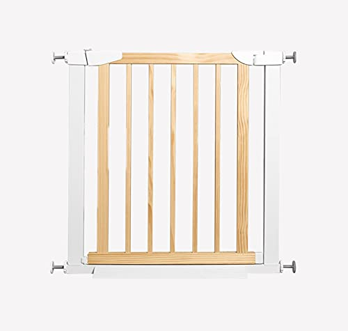 ZEMIN Automatic Rebound Baby Safety Gates,Punch Free Pet Dog Isolation Gate,Multi-use Protective Gate (Color : Wood Color, Size : 117-124cm)