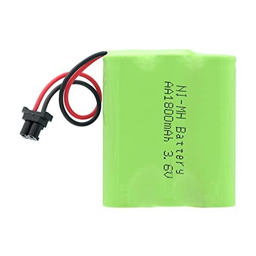 RitzyRose Batería Ni-MH AA de 3,6 V, 1800 mAh, baterías recargables Packs Group conector universal