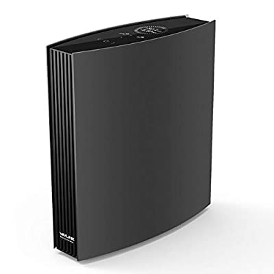 WAVLINK AC3200 Smart WiFi Router - Gigabit Router Dual Band Extender Repeater Wireless Internet with USB 3.0 Port, LCD Screen - Supports Guest WiFi, Parent Control, MU-MIMO, Beamforming - Black