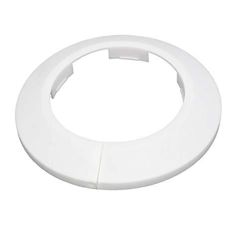 Cubierta de tubería de agua de radiador de brida de pared de plástico de 63 mm blanco
