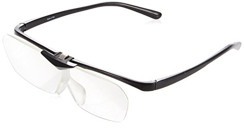 メガネ型拡大鏡 SMART EYE PREMIUM メガネタイプルーペ メタリックブラック