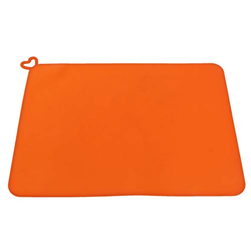 Socobeta Soft Environmentally Friendly Harmless Silicone Mat Mat Non-toxic Photosensitive Resin Orange Temperature Resistance for 3D Printer