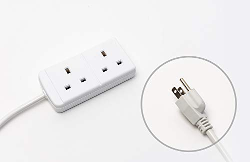 Wall Adaptateur Socket 3 Way Blanc Surge Protected 3 en 1 3 Douilles Extension 240 V
