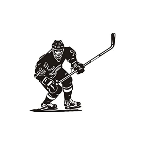 Gbrand 5 Piezas Pegatina para Coche 14 cm * 13 cm Hockey sobre Hielo Deportes Vinilo Pegatinas para Coche Negro