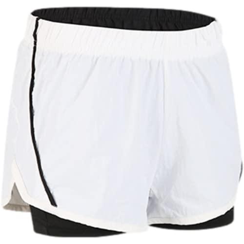 Pantalones Cortos para Mujer Cintura elástica Fitness Yoga Correr Ocio Estiramiento Ajustado Costuras cómodas Pantalones Cortos Deportivos básicos S