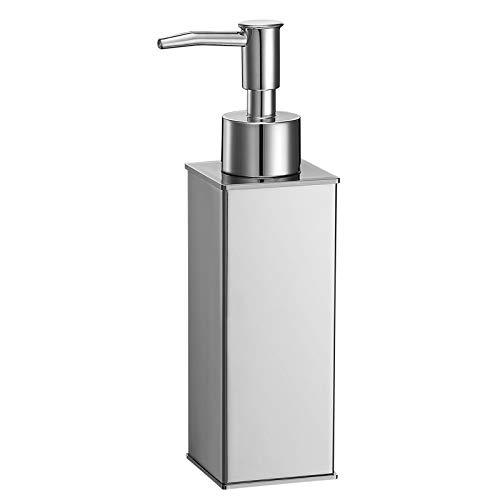 bgl 304 - Dispenser di sapone quadrato in acciaio inox per bagno