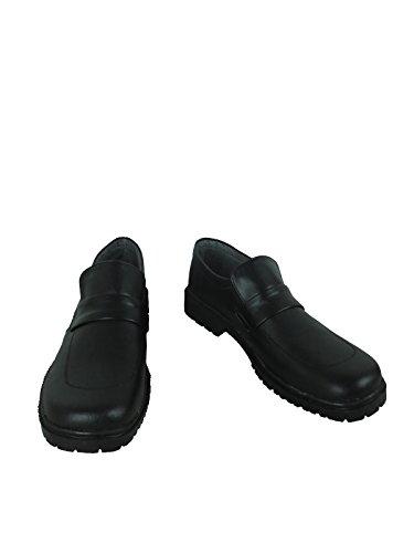Anime Game King Kyoya Hibari Okumura Yukio Black Daily Cosplay Shoes Boots (Male US 9/EU42.5)