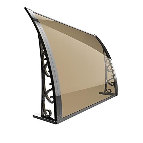 QYQPB Marquesina para Aleación de Aluminio, Toldo de Aleros de Alféizar de Ventana Al Aire Libre, Visera Transparente para El Sol, Hoja Hueca de Protección contra La Luz Solar de Lluvia UV Y Nieve