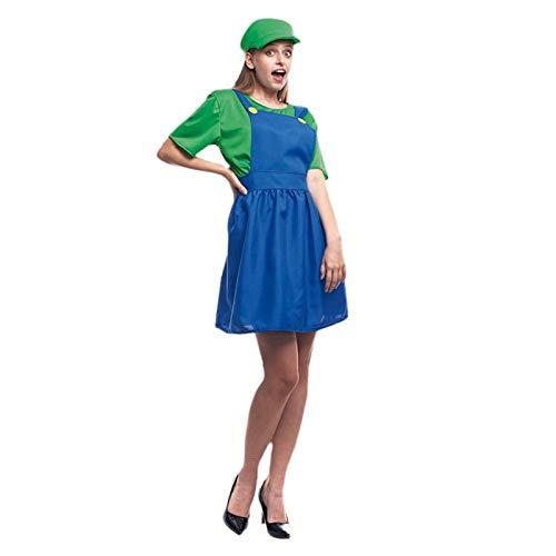 Disfraz Fontanera Verde Mujer (Talla L) (+ Tallas) Carnaval Cine y TV