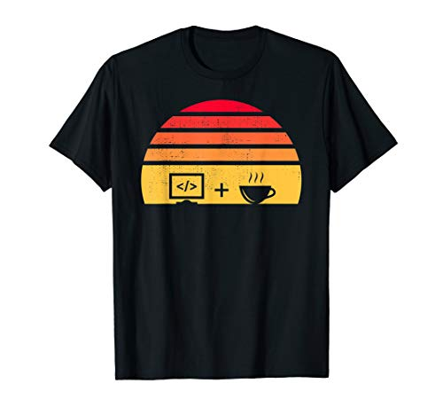Programmer Gift Idea | Coding + Coffee Sunset T-Shirt