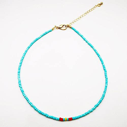 WQZYY&ASDCD Collar De Mujer Collar Colgante De Perlas Hecho A Mano Multicapa Moda Étnica Retro Estrella De Mar Amado Collar Regalo-E-2_