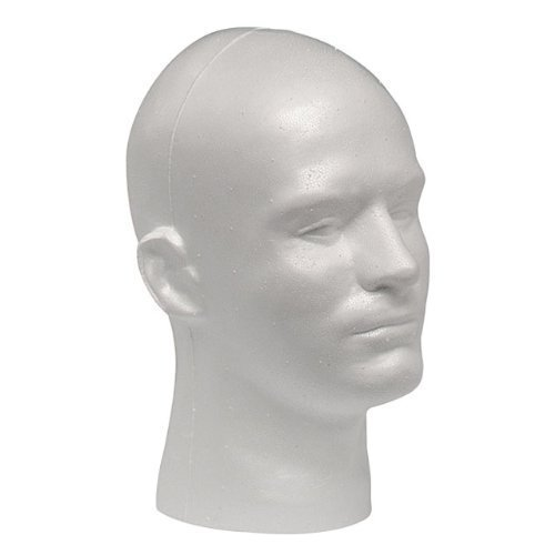 Case Pack of 1 Giell Styrofoam Foam Mannequin Wig Head Display Male White - http://coolthings.us