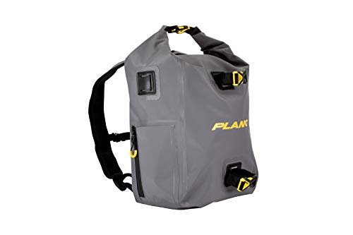 Plano Z-Series Roll-Top Waterproof Backpack   Premium Fishing Dry Bag with Padded Straps  Includes Two Stowaway Tackle Boxes, Gray, one Size
