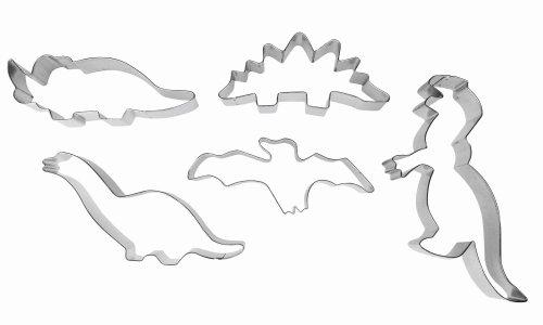 IBILI 723600 - Set 5 Cortapastas Dinosaurios Estañados