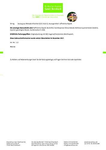 Sanct Bernhard KMW Knoblauch-Mistel-Weißdorn Kapseln, 480 Kapseln - 5