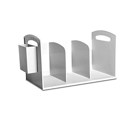 XuBa Multifunktions-Tisch-Bücherregal-Lagerregal für Büro-Computertisch Weiß