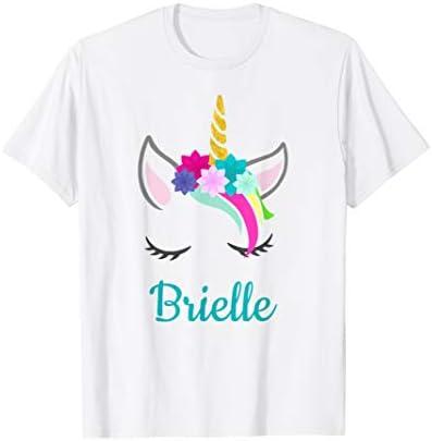 Brielle Rainbow Unicorn Name T Shirt product image