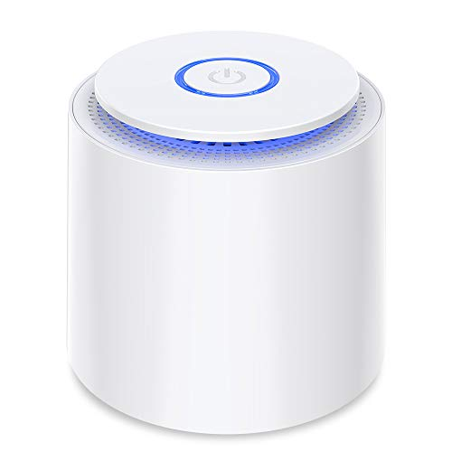 Small Air Purifier with Night Light,Portable Air Purifiers,USB car,HEPA & Active Filters Air Cleaner With Aromatherapy Function For Home or WorkAllergies, Smokers Home,Pollen,Pet Dander