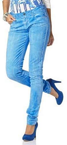 Laura Scott Laura Scott Röhrenhose blau Hose mit niedriger Leibhöhe