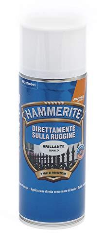 Hammerite Direttamente Sulla Ruggine Smalto, Brillante Bianco, 400 ml, Aerosol