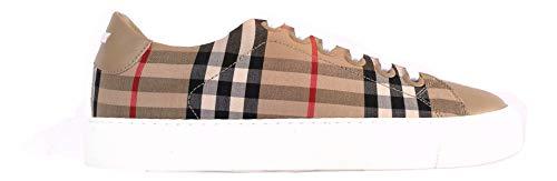 Burberry 8017249 Damen-Sneakers aus Stoff und Leder Check Beige, Beige - Check Beige - Größe: 36 EU