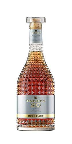TORRES BRANDY 20 SUPERIOR BRANDY Hors d'Age (1x 0,7l) - spanischer Brandy aus der Weinbauregion Penedès – in statischer Lagerung gereift – 70cl mit 40% vol. - 3